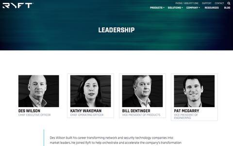 Screenshot of Team Page ryft.com - Leadership | Ryft - captured Oct. 12, 2017