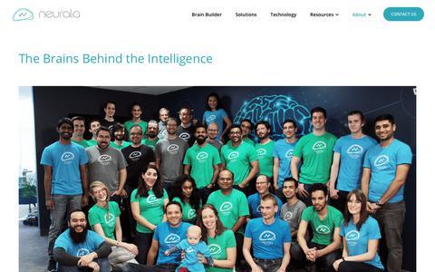 Screenshot of About Page neurala.com - About   Neurala - captured Feb. 14, 2019