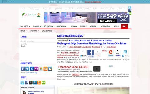 Screenshot of Press Page indianfashiontrends.com - News | Indian Fashion Trends - captured Sept. 30, 2014