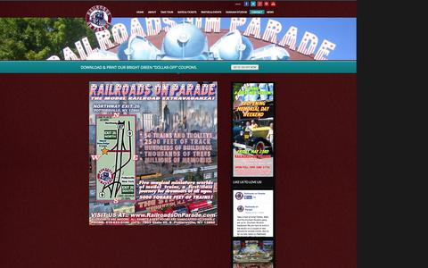 Screenshot of Maps & Directions Page railroadsonparade.com - Directions | Railroads On Parade - captured Oct. 27, 2014