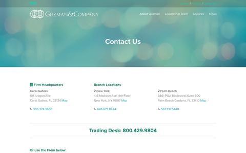 Screenshot of Maps & Directions Page guzman.com - GUZMAN  & COMPANY - captured Nov. 17, 2016