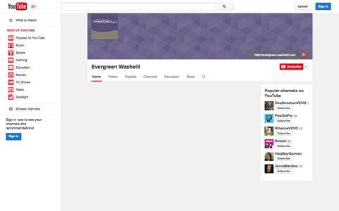 Screenshot of YouTube Page youtube.com - Evergreen Washelli  - YouTube - captured Oct. 22, 2014