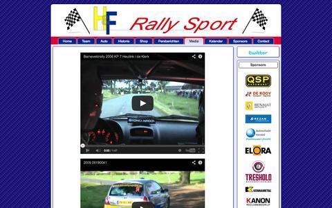 Screenshot of Press Page hf-rallysport.nl - Historic & Future Rally Sport - captured Oct. 2, 2014