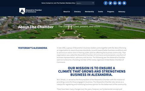 Screenshot of About Page alexchamber.com - Alexandria Chamber of Commerce - About Us | Alexandria Chamber of Commerce | Alexandria, VA 22314 - Alexandria Chamber of Commerce - captured Oct. 3, 2018