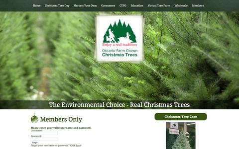 Screenshot of Login Page christmastrees.on.ca - Members-Only Section - captured Nov. 6, 2016