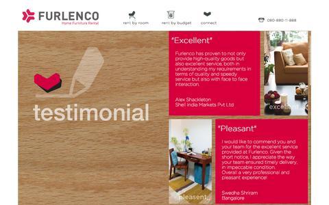 Screenshot of Testimonials Page furlenco.com - Testimonials | Furlenco - captured Nov. 5, 2014