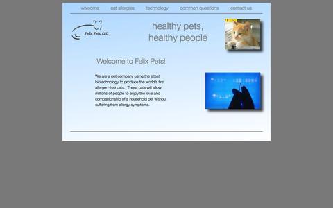 Screenshot of Home Page felixpets.com - Felix Pets - welcome - captured Aug. 3, 2015