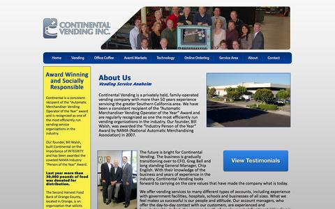 Screenshot of Team Page contvend.com - Vending Machines Anaheim | About Us | Continental Vending - captured Oct. 3, 2014