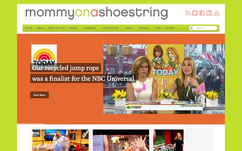Screenshot of Home Page mommyonashoestring.com - Mommy on a Shoestring - Free family activites & free crafts for kids - captured Oct. 6, 2014