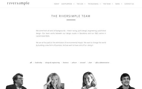 Screenshot of Team Page riversimple.com - THE RIVERSIMPLE TEAM - - captured Dec. 11, 2016