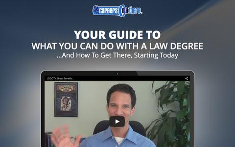 Screenshot of Signup Page jdcareersoutthere.com - Discover What You Can Do With A Law Degree At JDCOT - captured Oct. 20, 2015