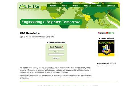 Screenshot of Press Page hopetechglobal.com - HTG Newsletter | Hope Tech Global - captured Sept. 30, 2014