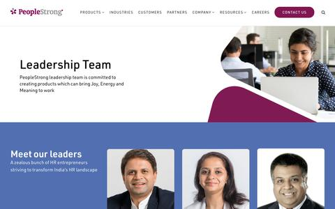 Screenshot of Team Page peoplestrong.com - leadership | PeopleStrong - captured Aug. 13, 2019