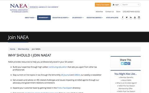 Screenshot of Signup Page naea.org - Join NAEA | NAEA - captured Sept. 26, 2018
