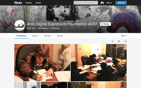 Screenshot of Flickr Page flickr.com - Arab Digital Expression Foundation ADEF | Flickr - Photo Sharing! - captured Nov. 13, 2015