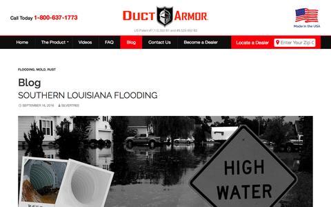 Screenshot of Blog ductarmor.com - Blog   Duct Armor - captured Nov. 8, 2016