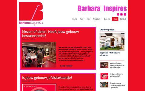 Screenshot of Blog barbarainspires.nl - Barbara Inspires | Blog - captured June 1, 2017