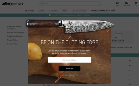 Screenshot of Privacy Page Contact Page cutleryandmore.com - Cutlery and More Customer Service | (800)650-9866 - captured Dec. 8, 2018