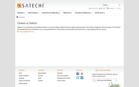 Screenshot of Jobs Page satechi.net - Careers - captured Sept. 25, 2014