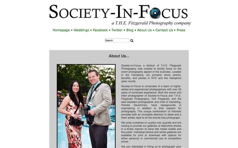 Screenshot of About Page society-in-focus.com - About Us - Hamptons and New York City Event and Commercial Photography: Society-In-Focus - captured Sept. 30, 2014