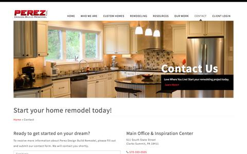 Screenshot of Contact Page perezdbr.com - Perez Design Build Remodel | Start your home remodel today! - captured Nov. 2, 2016