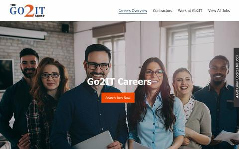 Screenshot of Jobs Page go2itgroup.com - Go2IT Jobs: Overview | Go2IT - captured July 21, 2018