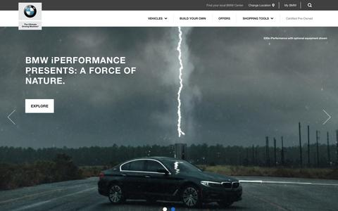 Screenshot of Home Page bmwusa.com - Home - BMW North America - captured Dec. 20, 2017