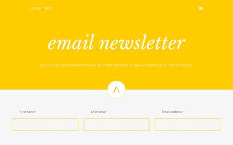 Screenshot of Signup Page weareupward.com - Contact us | Upward Design & Marketing Limited - captured July 5, 2018