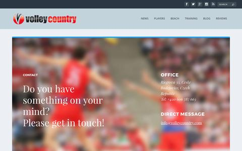 Screenshot of Contact Page volleycountry.com - Contact | VolleyCountry - captured June 14, 2017