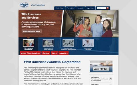 First American - Title Insurance, Specialty Insurance, and Real Estate-Related Services.