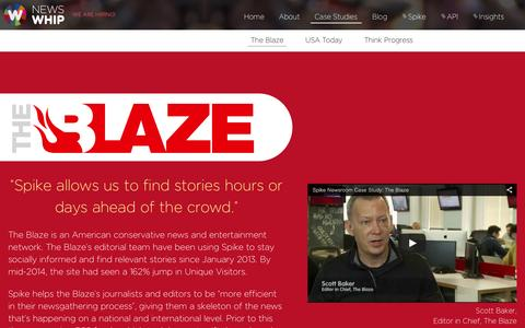 Screenshot of Case Studies Page newswhip.com - The Blaze - Using Spike in the Newsroom   NewsWhip - captured Feb. 14, 2016