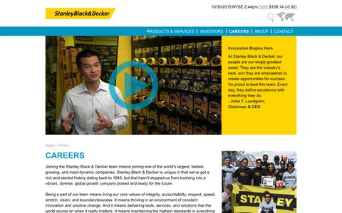 Careers | Stanley Black & Decker