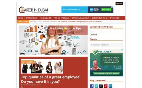 Screenshot of Blog careerindubai.net - Career in Dubai | Career Articles and Guides - captured Dec. 7, 2015