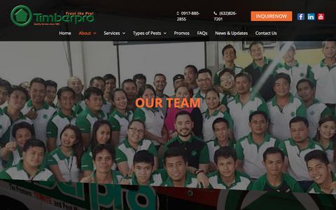 Screenshot of Team Page timberpro.com.ph - Our Team   Timber Pro - captured Nov. 4, 2017