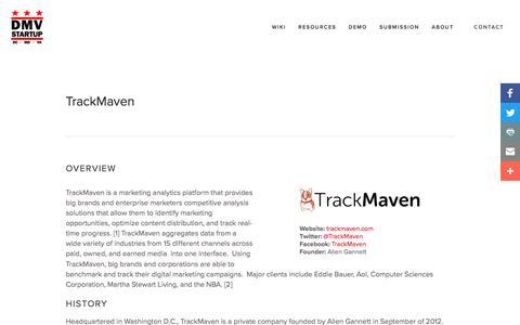 TrackMaven — DMVStartup