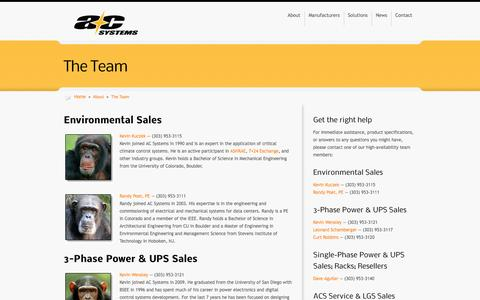 Screenshot of Team Page acsystems.com - The Team - AC Systems - captured Sept. 30, 2014