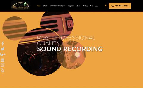 Screenshot of Home Page casoundstudios.com - Home - California Sound Studios - captured Nov. 9, 2018