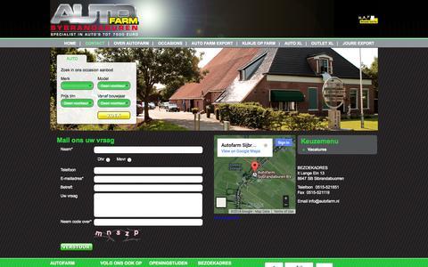 Screenshot of Contact Page autofarm.nl - Contact» Autofarm.nl - captured Sept. 30, 2014
