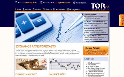 Screenshot of Blog torfx.com - Foreign Exchange Rate Forecasts and News | TorFX - captured Sept. 24, 2014