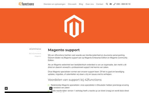 Screenshot of Support Page 42functions.nl - Magento support - 42functions - captured Oct. 18, 2018