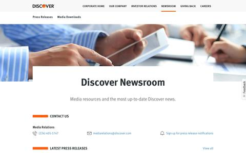 Discover - Newsroom | Discover Card