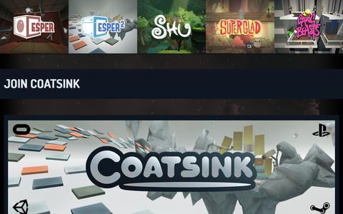 Screenshot of Jobs Page coatsink.com - Jobs – Coatsink - captured Nov. 8, 2016