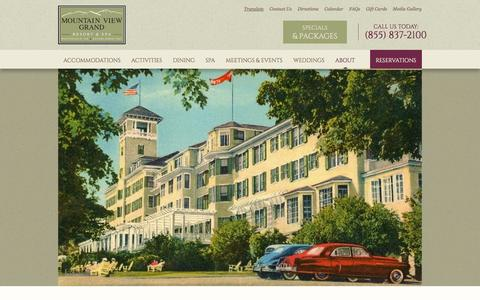 Screenshot of About Page mountainviewgrand.com - About Our Four Diamond Resort in New Hampshire - captured Oct. 9, 2014
