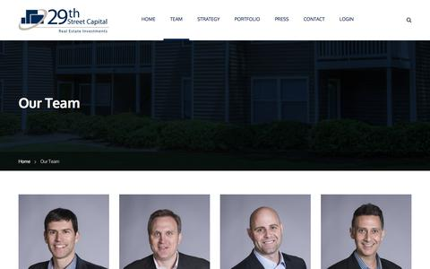 Screenshot of Team Page 29thstreetcapital.com - Our Team – 29th Street Capital - captured June 11, 2017