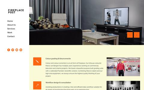 Screenshot of Services Page fireplacepost.nl - Services | Fireplace Post - captured Nov. 14, 2018