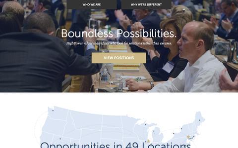 Screenshot of Jobs Page hightoweradvisors.com - Careers at HighTower | HighTower Advisors - captured April 2, 2016