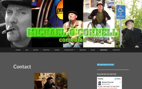 Screenshot of Contact Page wordpress.com - Contact | Michael O'Connell - captured Oct. 27, 2014