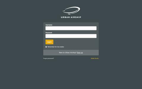 Screenshot of Login Page urbanairship.com - Urban Airship - Login - captured Nov. 5, 2015