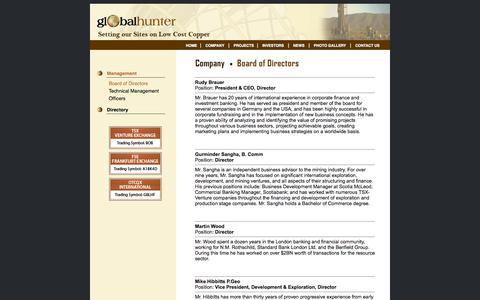 Screenshot of Team Page globalhunter.ca - Global Hunter - captured Oct. 2, 2014