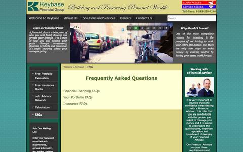 Screenshot of FAQ Page keybase.com - FAQs - captured Oct. 6, 2014
